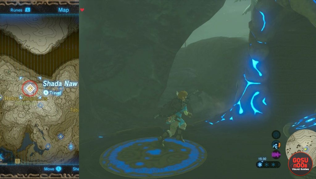 Zelda BotW Shada Naw Shrine Location