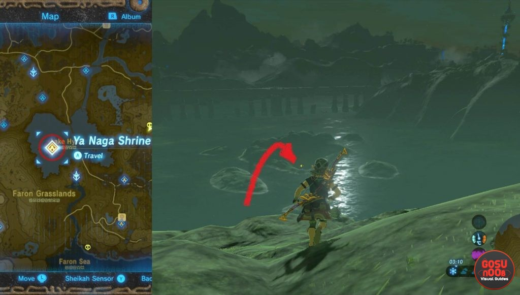 Zelda BotW Ya Naga Shrine Location