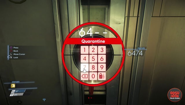 prey keycode locations keypad combinations