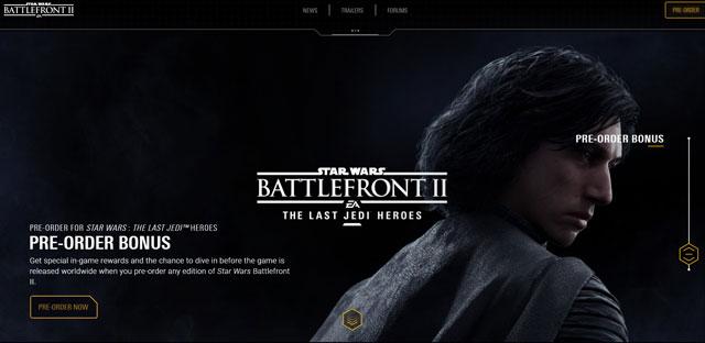 star wars battlefront 2 preorder bonus