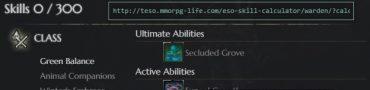 ESO Warden Skill Calculator Updated for Morrowind