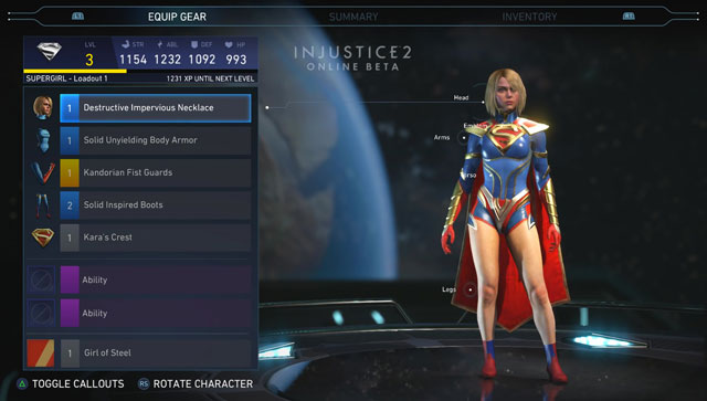 Injustice 2 How to Unlock Gear & Items - Head, Torso, Arms ...