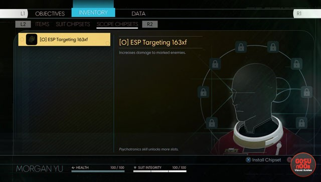 prey scope chipset locations