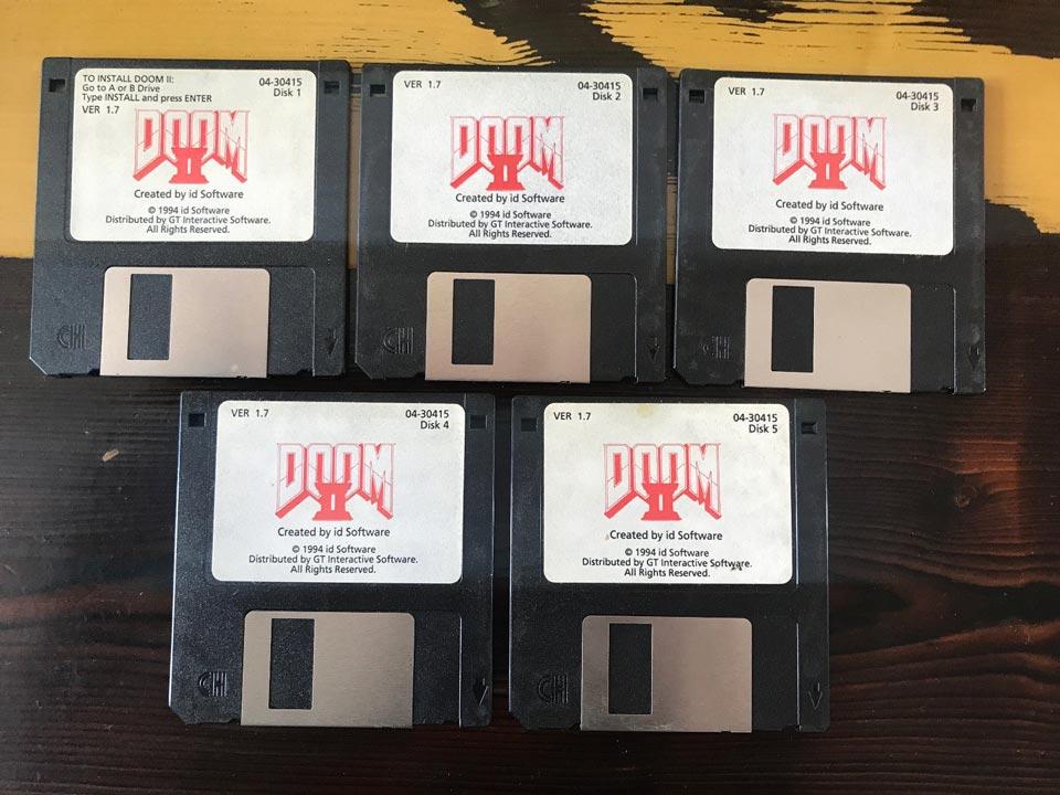 John Romero Selling Original DOOM 2 Floppy Disks on Ebay