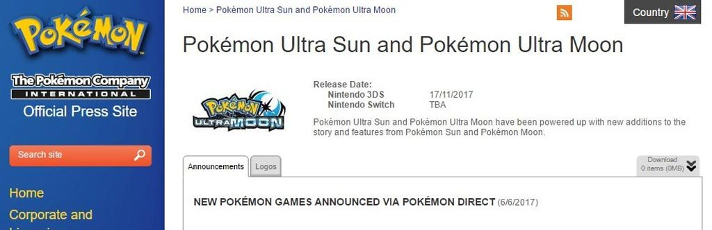 Nintendo Switch Not Getting Pokemon Ultra Sun & Ultra Moon