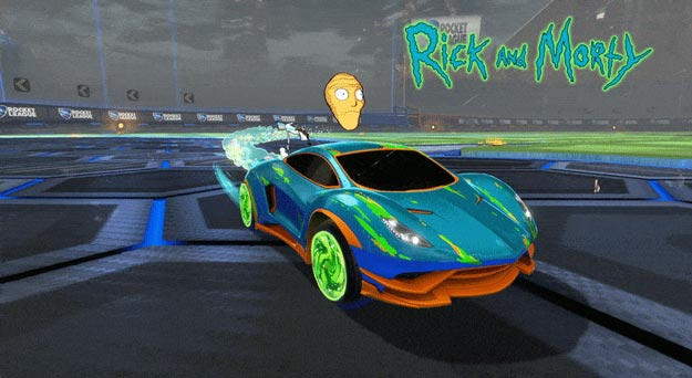 Rocket League Coming to Summer X Games, Getting Rick & Morty DLC