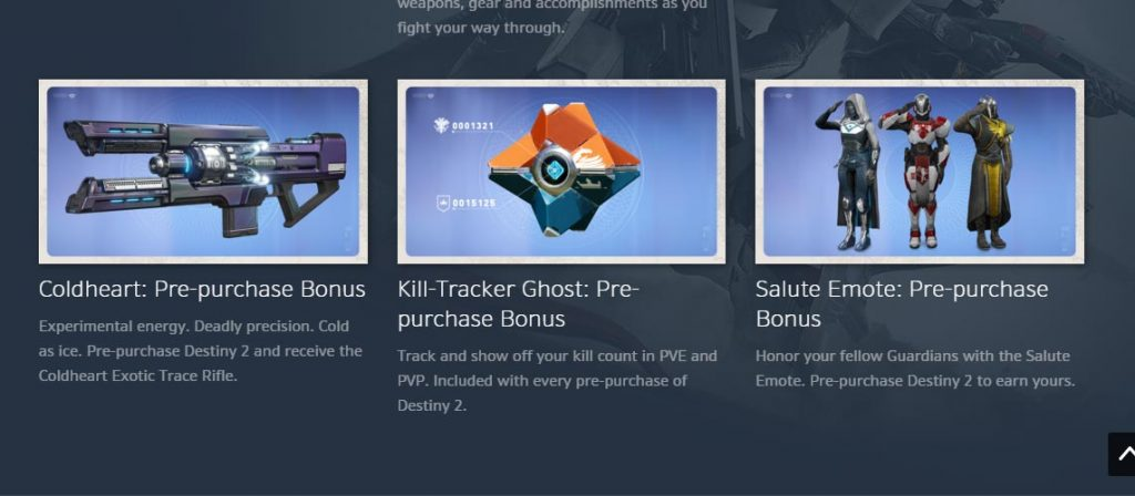 Destiny 2 Three New Preorder Bonuses Discovered on Blizzard App