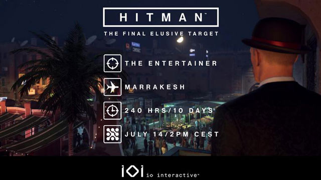 Hitman First Season Final Elusive Target #26 The Entertainer Out on Friday 14 July