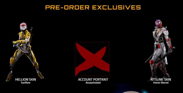 LawBreaker Pre-Order Bonuses