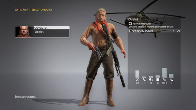 MGS5 The First 2017 Update Lets You Play as Ocelot