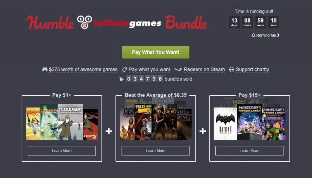 Telltale Games Humble Bundle Offers Walking Dead, Minecraft Story Mode