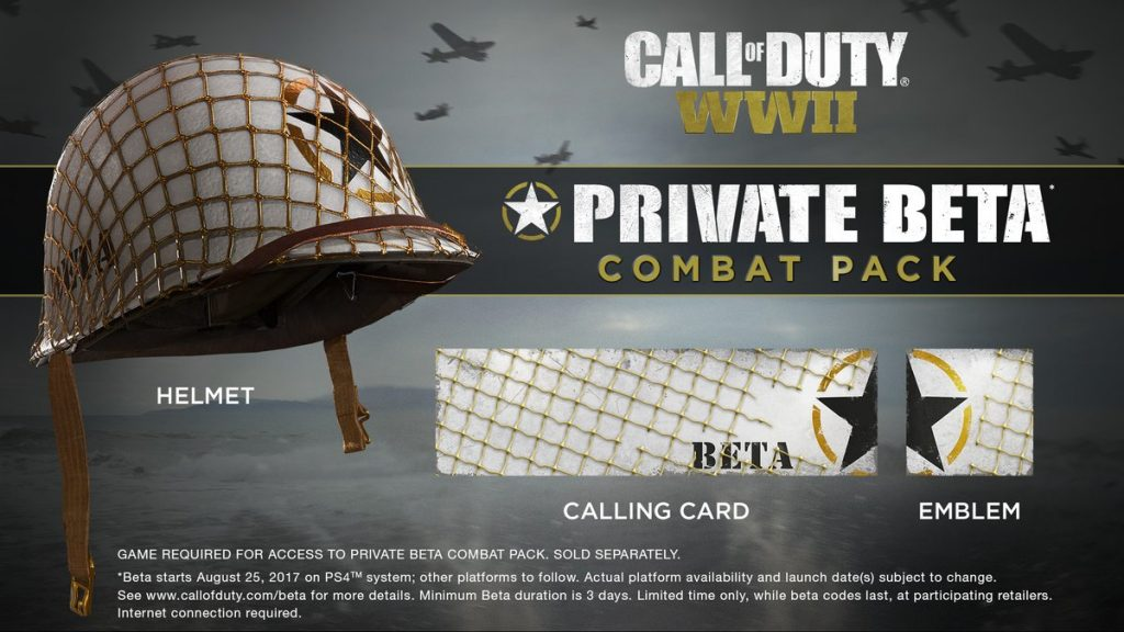 Call of Duty WWII Beta Participants Get MP Private Combat Pack