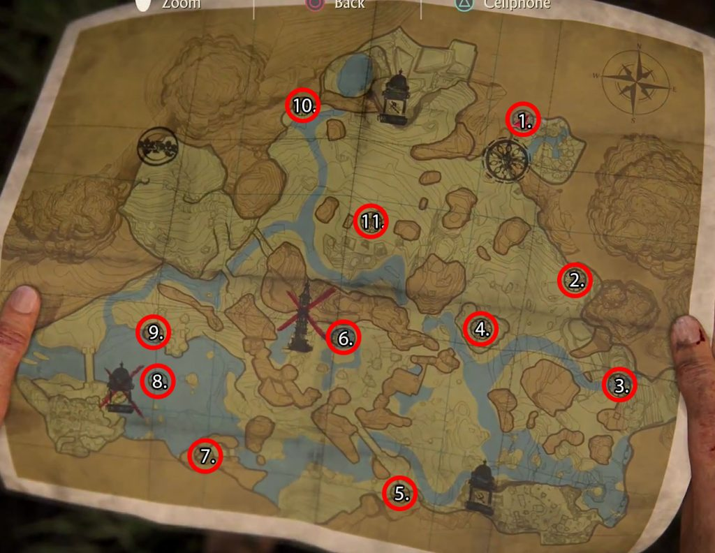 Uncharted Lost Legacy Hoysala Tokens Locations Map Marked