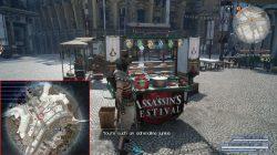 ffxv assassin medallion food stall