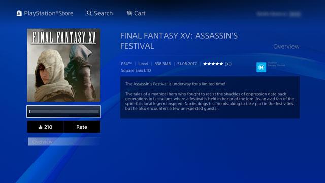 ffxv how to download assassin's festival dlc