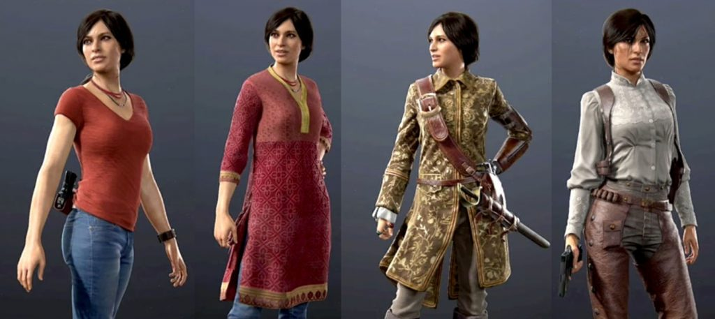 uncharted lost legacy alternate skins