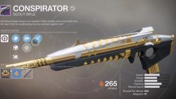 Conspirator Destiny 2 Weapon Leviathan Raid