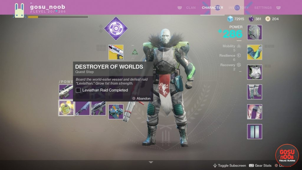 Destiny 2 Destroyer of Worlds Quest