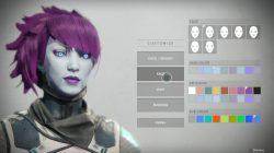 Destiny 2 Face, Skin, Lip, Eye Character Customization