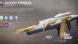 Destiny 2 Ghost Primus Weapon from Leviathan Raid