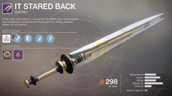 Destiny 2 It Stared Back Leviathan Raid Sword