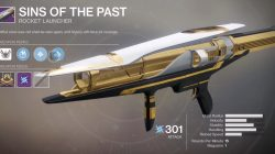 Destiny 2 Leviathan Weapon Sins of the Past