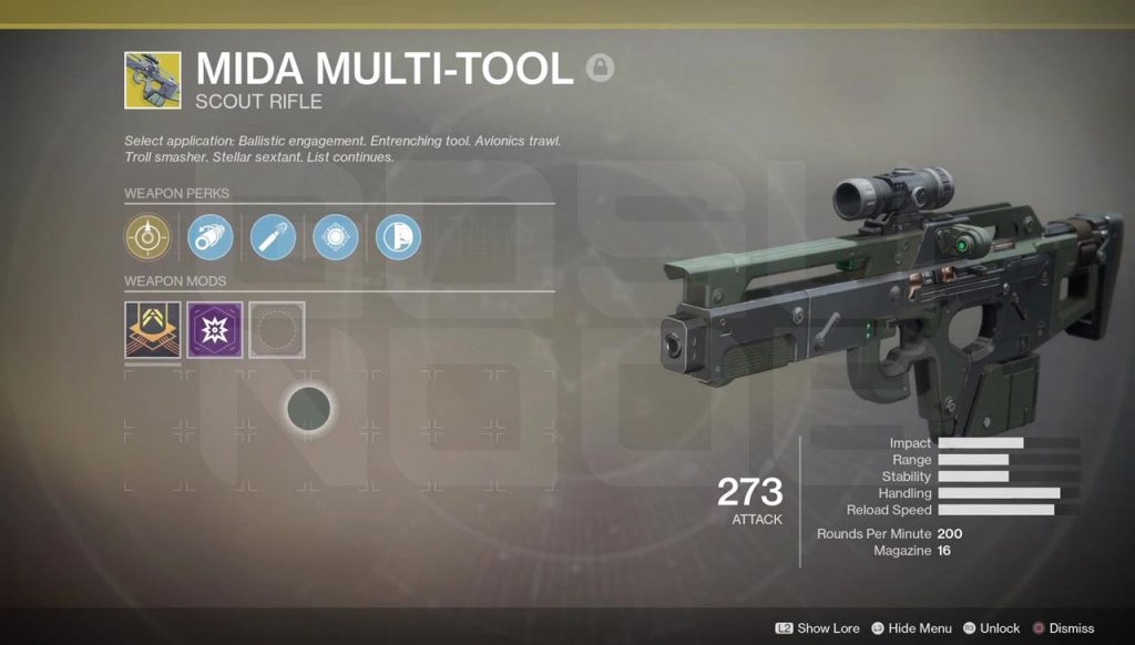 Destiny 2 Mida Multi-Tool, Rat King, Sturm Exotic Weapons