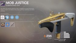 Destiny 2 Mob Justice Weapon from Leviathan Raid