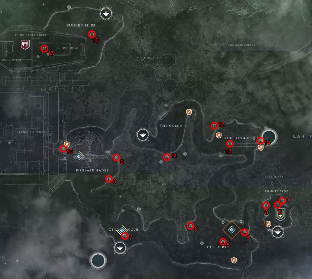 destiny 2 lost sectors locations edz