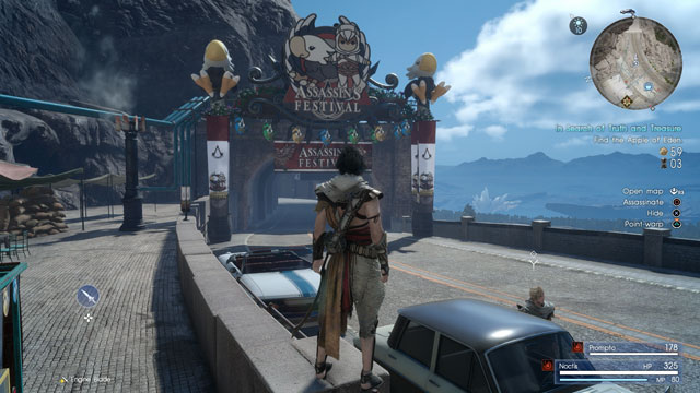 ffxv assassin's treasure capture the flags in search of truth and treasure