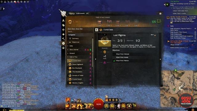 GW 2 Lost Pilgrims Achievement Vision Crystal & Bones Locations