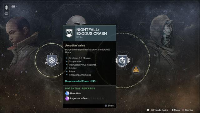 destiny 2 exodus crash nightfall strike