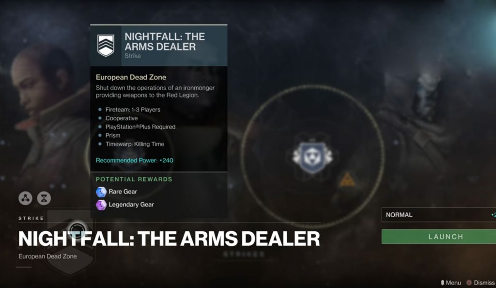 destiny 2 nightfall arms dealer