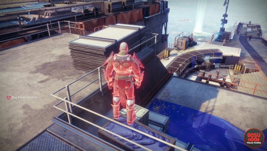 destiny 2 secrets tower giant ball secret room soccer field lava buff