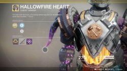 destiny 2 xur hallowfire heart