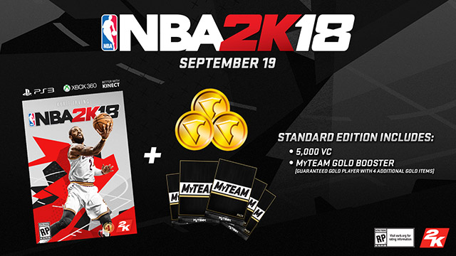 nba 2k18 where to find 5000 vc preorder bonus