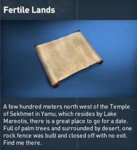 AC Origins Fertile Lands Papyrus Puzzle Solution