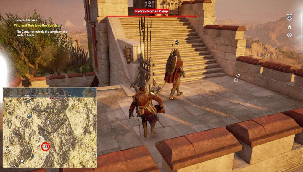 AC Origins Retrieve the Spy List Find Centurion