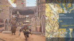 AC Origins Speak to Apollodorus contact in the Giza Market