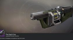 Destiny 2 Day's Fury Iron Banner Exotic Grenade Launcher