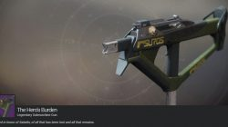 Iron Banner Destiny 2 Hero's Burden Exotic Submachine Gun