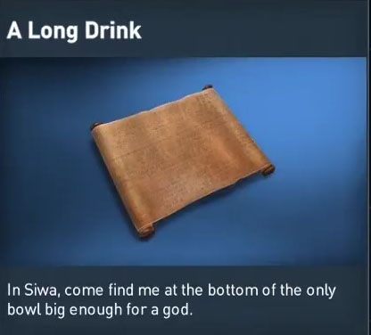 ac origins a long drink papyrus puzzle