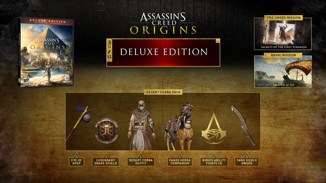 ac origins how to get deluxe gold edition bonus ability points