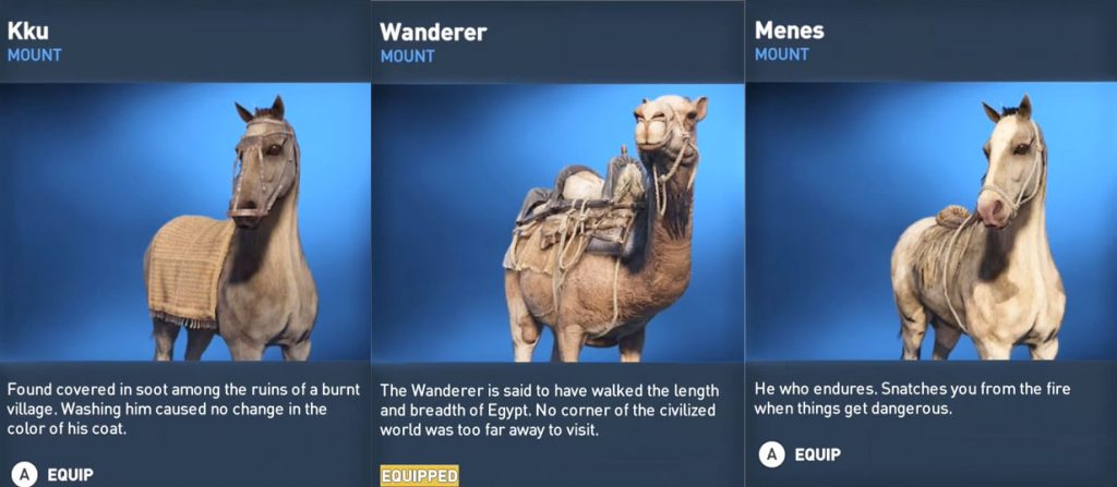 ac origins mounts camel horse