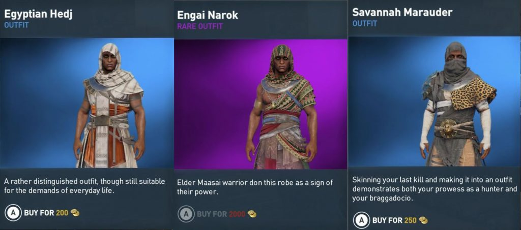 Assassin S Creed Origins All Outfits Armor