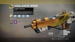 Destiny 2 Xur Vigilance Wing