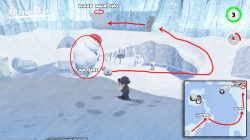 snow kingdom warp painting location super mario odyssey