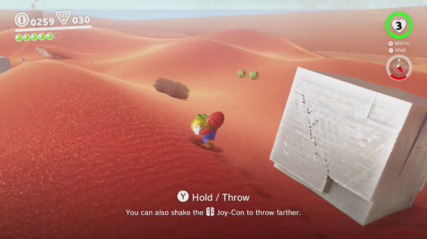 super mario odyssey moon rock mysterious cube sand kingdom location