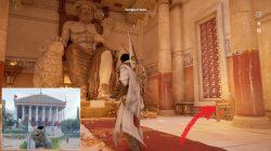 AC Origins Temple of Zeus Papyrus Puzzle Location