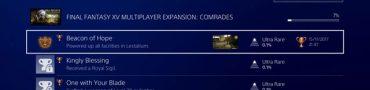 Final Fantasy XV Comrades Multiplayer DLC Achievements / Trophies